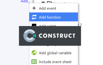 Construct 3 : การใช้ Function ใน Construct 3